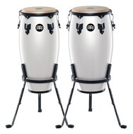 Meinl Headliner Wood Conga Set with Stands, Pearl White