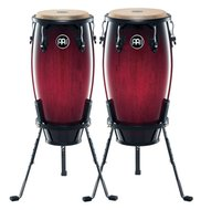 Meinl Headliner Wood Conga Set Includes Stands, Wine Red Burst