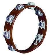 Meinl Wood Tambourine, Aluminum Jingle 2 Rows