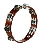 Meinl Wood Tambourine, Steel Jingle 2 Rows