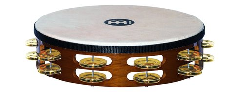 Meinl Headed Wood Tambourine, Brass Jingles