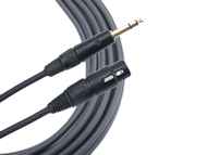 Mogami 15 Foot Gold TRS-XLRM Balanced Cable