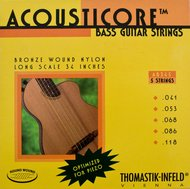 Thomastik Bronze Wound Nylon Acoustic Bass 5 Strings Long Scale .041-.118