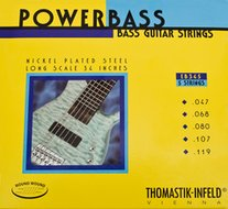 Thomastik Powerbass<BR>Roundwound Bass 5 Strings<BR>Long Scale .047-.119