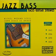 Thomastik Jazz Bass<BR>Flatwound Strings<BR>Long Scale .043-.100