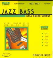 Thomastik Jazz Bass<BR>Flatwound Bass 5 Strings<BR>Long Scale .043-.116