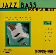 Thomastik Jazz Bass<BR>Roundwound Strings<BR>Long Scale .043-.089