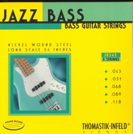 Thomastik Jazz Bass<BR>Roundwound 5 Strings<BR>Long Scale .043-.118