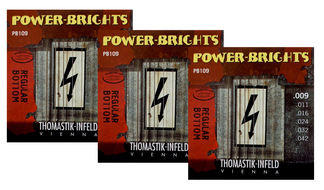 Thomastik Power Bright Electric Guitar Strings<BR>.009-.042 Three-Pack