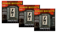 Thomastik Power Bright Electric Guitar Strings<BR>Heavy Bottom .009-.046 Three-Pack