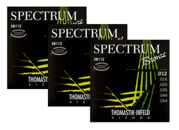 Thomastik Spectrum Acoustic Guitar Strings<BR>.012-.054 Three-Pack