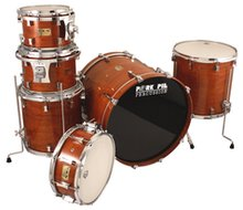 Pork Pie Cherry / Bubinga Hi Gloss 6pc Shell Pack with Chrome Hardware
