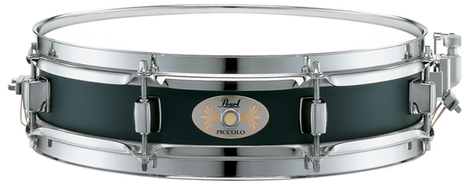 "Pearl Piccolo Steel Snare Drum 13"" X 3"" Black"