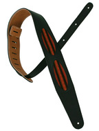 Pete Schmidt Black With Ovals Guitar Strap