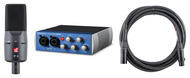 PreSonus Audiobox USB 96, sE Electronics X1a Microphone, Roland Cable
