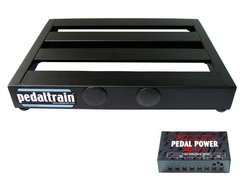Pedaltrain PT-Jr-SC Pedalboard with Soft Case Voodoo Lab Pedal Power 2 Plus