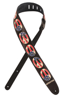 Planet Waves Woodstock<BR>Peace Flag Guitar Strap