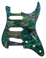 Q-Parts Blue-Green Abalone<BR>Stratocaster Pickguard