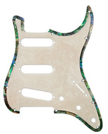 Q-Parts Strat Pickguard Mother of Pearl Swirl with Binding
