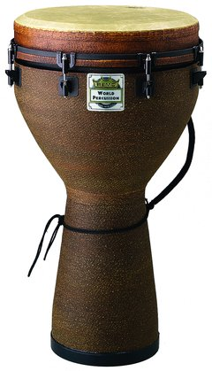 "Remo 24"" X 10"" Key-Tuned Djembe, Earth"