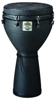 "Remo Djembe, Key-tuned, 12"" Diameter, 24"" Height In Black Earth"