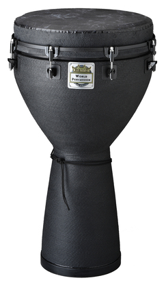"Remo Djembe, Key-Tuned, 14"" Diameter, 25"" Height, Fabric Black Earth"