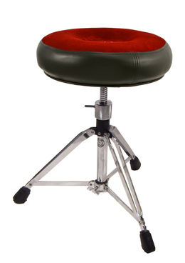 Roc-N-Soc Drum Throne Manual Spindle, Round, Red