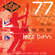 Rotosound RS 77S Jazz Bass<BR>Monel Flatwound Short Scale <BR>Electric Bass Strings .040-.090
