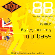 Rotosound RS 88LD Tru Bass Black Nylon Flatwound Electric Bass Strings .065-.115