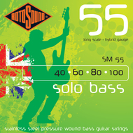 Rotosound SM 55 Solo Bass<BR>Pressurewound Long Scale<BR>Electric Bass Strings .040-.100