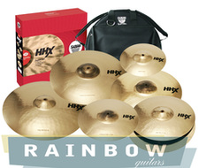 "Sabian HHX 7pc Super Set With 18"" Crash and Bac Pac Cymbal Bag"