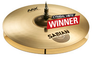 "Sabian 16"" AAXplosion Hi Hats In Brilliant Finish"