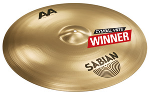 "Sabian 24"" AA Bash Ride In Brilliant Finish"
