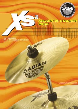 "Sabian 10"" Xs20 Splash with Tilt Stacker"