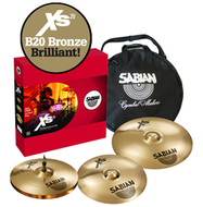 Sabian Brilliant Series Xs20 Performance Set With Cymbal Bag