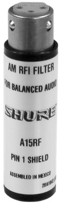 Shure A15RF In-Line RF Interference Attenuator