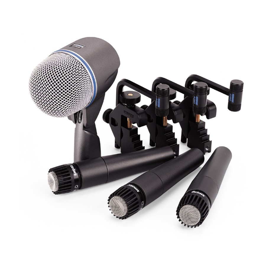 shure recording vocal microphone dmk57 52 professional drum mic kit rainbow guitars. Black Bedroom Furniture Sets. Home Design Ideas