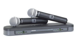 Shure PG288/PG58 Dual Channel Wireless with Two Handheld Microphones