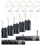 Shure PSM200 Wireless In-Ear Monitors, Two Mixes, Five Receivers