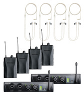 Shure PSM200 Wireless In-Ear Monitors, Two Mixes, Four Receivers
