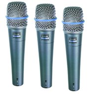 Shure Beta 57a Microphones, Three Pack<BR>