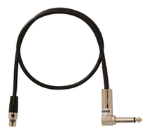 Shure WA304 Right Angle Instrument Cable for Shure Wireless Bodypacks