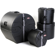 SKB Roto-X 4pc Drum Case Set(9x10, 10x12, 16x16, 18x22) with padded Interiors