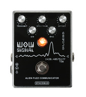 Spaceman WOW Signal Alien Fuzz Communicator Pedal Brushed Aluminum
