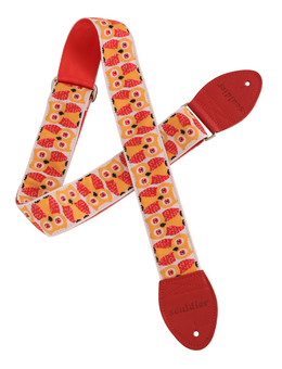 "Souldier Red Owls 2"" Guitar Strap"