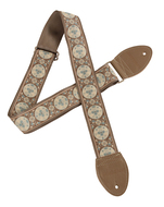Souldier Guitar Strap Medallion Taupe