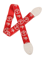 Souldier Guitar Strap Peace Dove Red/White