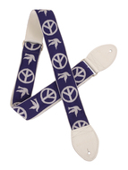 Souldier Peace Dove Guitar Strap Blue/white
