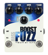 Tech 21 Bass Boost Fuzz - Analog Bass Fuzz with Clean Boost Pedal