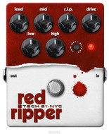 Tech 21 Red Ripper Bass Distortion/Fuzz Pedal<BR>w/Free DC2 Power Supply